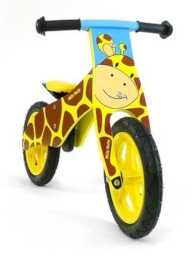 loopfiets Duplo Giraffe 12 Inch Junior Geel/Bruin